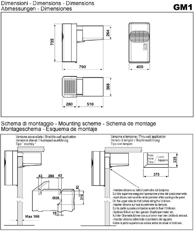 Equipo Frigorifico Compacto de pared tipo MOCHILA