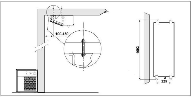 Equipo Frigorifico con Evaporador de plafon