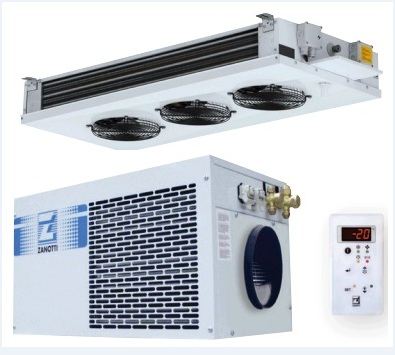SPLIT REFRIGERATION UNIT, with plafond evaporators