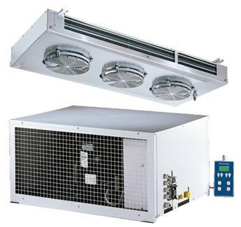 Split Kühlaggregate mit  Deckenflachverdampfer