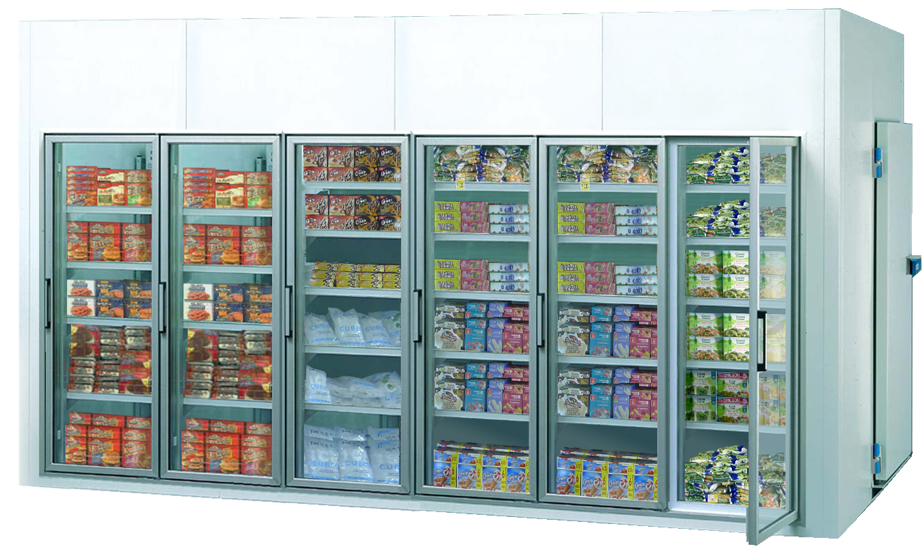 FREEZER ROOM WITH GLASS DOOR